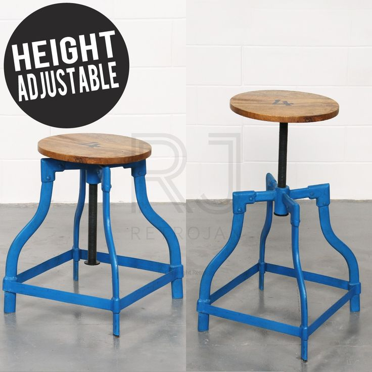Barnard Industrial Stool - DARK BLUE (Adjustable Height) | $89.00  sc 1 st  Pinterest & 53 best Industrial Stools images on Pinterest | Industrial stool ... islam-shia.org