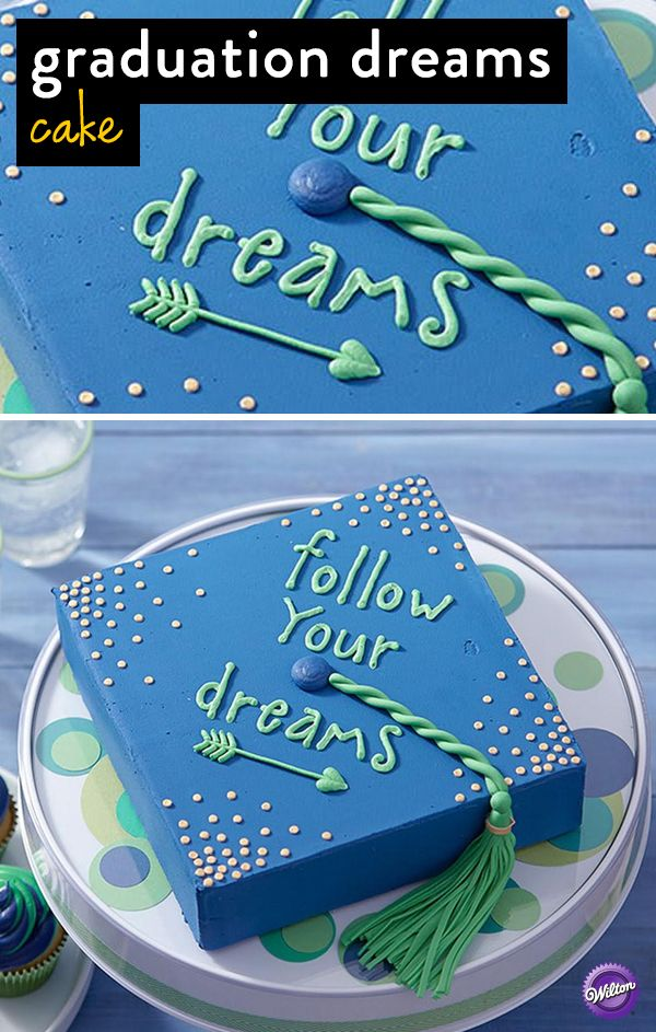 Use this step-by-step tutorial to bake a graduation cake! Includes instructions on how to make the tassle and cord.