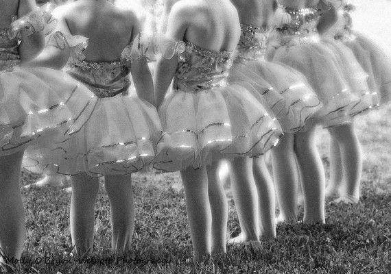 lovely little ballerinas before a recital
