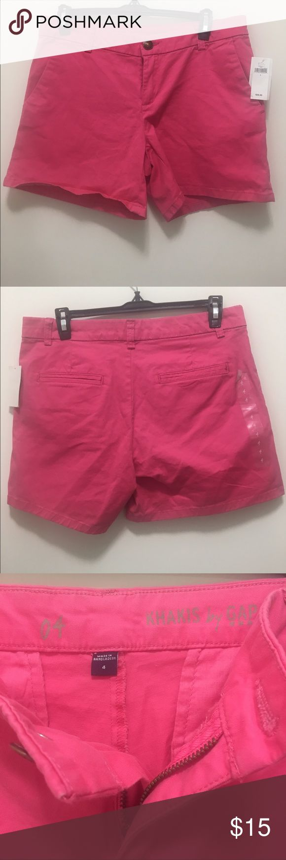 NWT Gap Women's Khaki Shorts Size 4, Rose Pink These GAP rose pink shorts are new with tags, never worn! Can be rolled up to desired length.  Come from a non-smoking, pet free home. GAP Shorts
