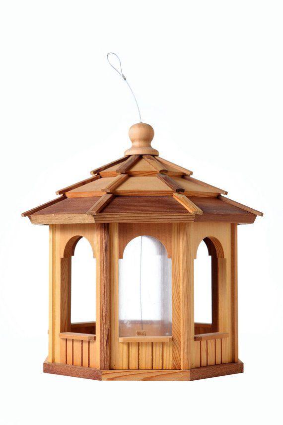 Cedar Bird Feeder Gazebo 8 Sided Octagon 16 Gazebo Bird Feeder Bird Feeders Wooden Bird Feeders