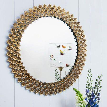 Thousand Daisies Golden Mirror