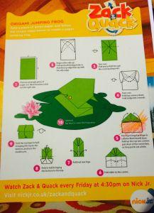 Zack & Quack - Free Frog Origami Printable