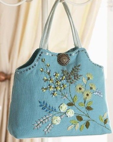Forset Blooms embroidered bag project