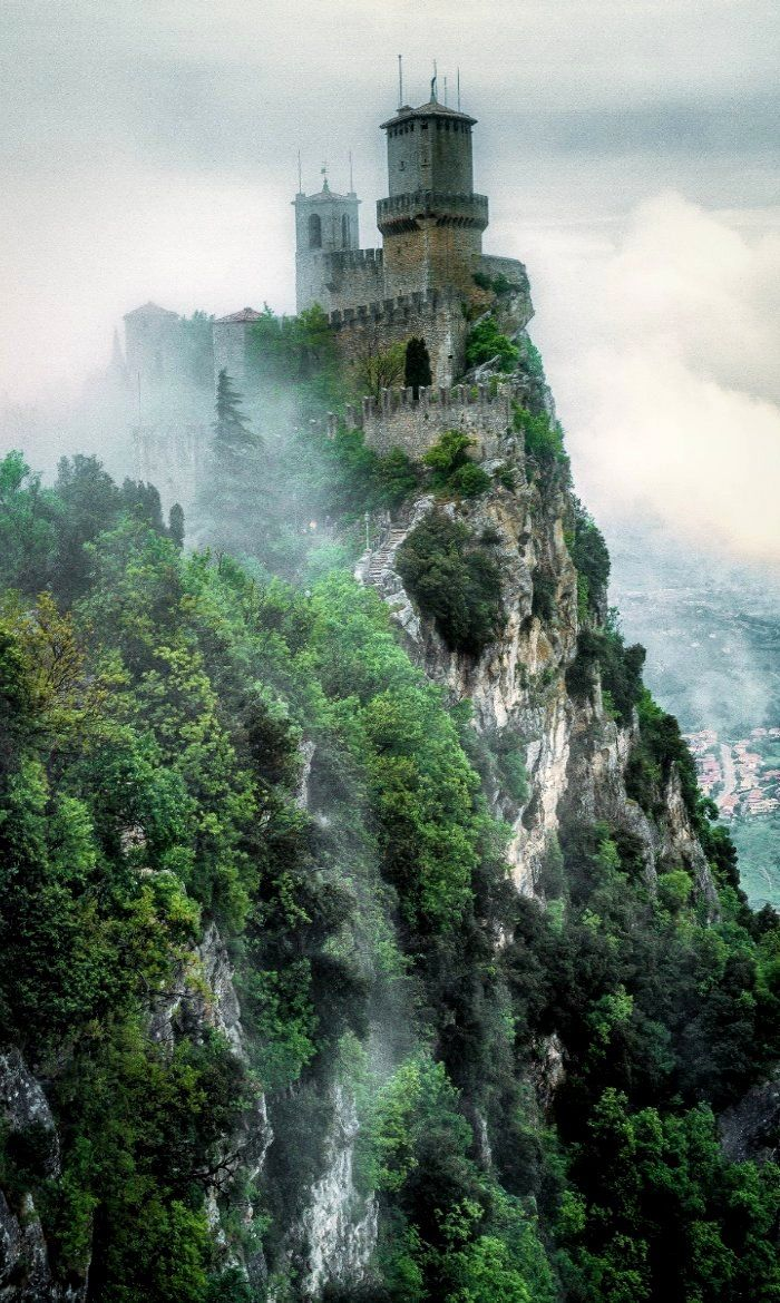 San Marino Castle into the mist, Italy | by bisignano fabrice on 500px #LandscapeNature