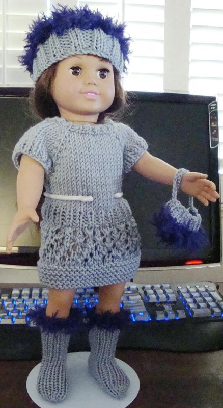 free knitting pattern - not keen on the fur, but the dress would look cute with leggings