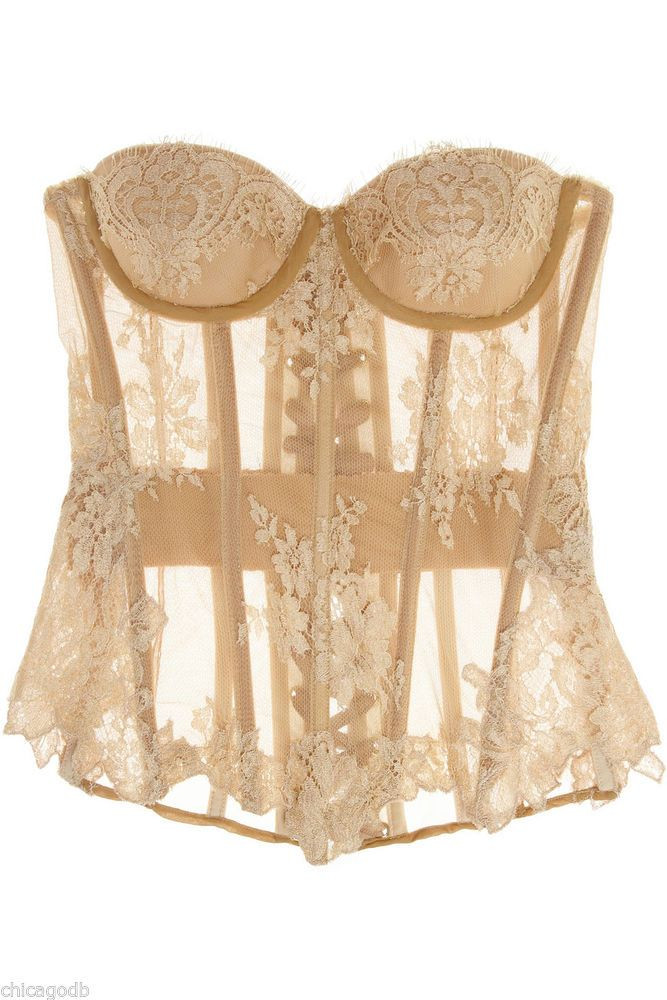 Rosamosario [by Carlotta Danti]...Chantilly Lace Corset/Bustier $415 [was $690...now sold out at Net-a-Porter and Lyst]...available at Katerina's Closets - eBay Shop