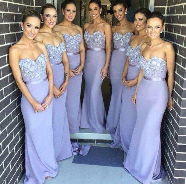Damas .. Vestido color lila