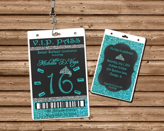 Get the unique glitter Sweet 16 Invitations, Sweet 15 Invitation, or Quinceanera Invitations you've been looking for, for your daughters