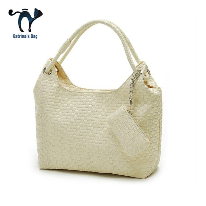 2015 New Fashion Women PU Leather Shoulder Bag Elegant Lovely Faux Weaved Tote bolsos bolsas Dropship free shipping #Affiliate