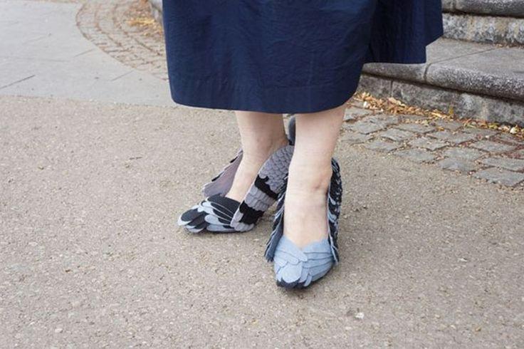 Igencsak megosztotta a közvéleményt az az új trend, mely egy japán tervező, Kyoto Ohata műhelyében született meg, mégpedig galambos cipők formájában.