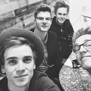 Instagram photo by joe_sugg - I've had no sleep.. But being reunited with these boys makes me a happy Sugg! #playlistsquad