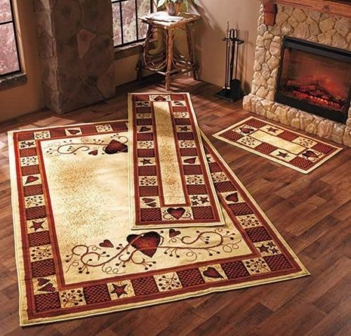 Other Rugs And Carpets 8409 Hearts Stars Berries Accent