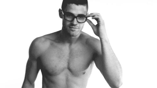 sexy, man, glasses, gif,