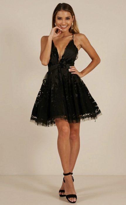 95abeb048 Vestidos Negros de Moda para lucir Glamurosa en un Día Especial ...