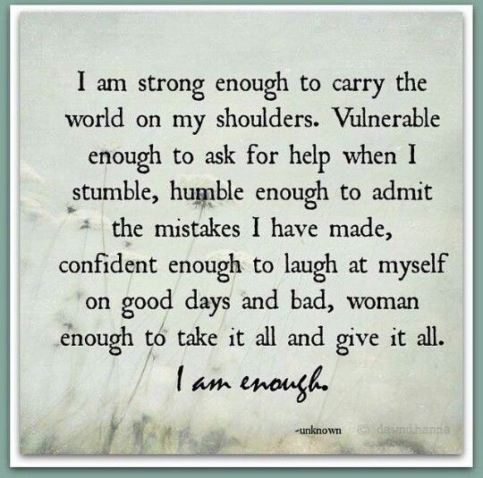 I am strong enough... | Frases - Quotes | Pinterest | I am ...