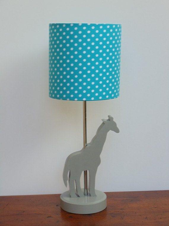 Handmade Giraffe Lamp  Great Nursery or Kids by PerrelleDesigns, $50.00