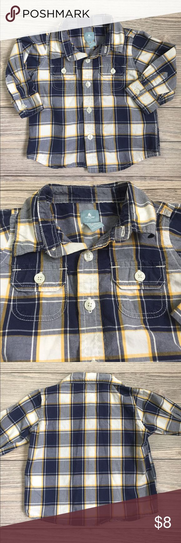 GAP Button Down Shirt Baby GAP Boys Plaid Button Down shirt.  Purchased from the GAP OUTLET.  Excellent condition.  Smoke free/pet free home.  Bundle and save.  Check out my other GAP listings GAP Shirts & Tops Button Down Shirts