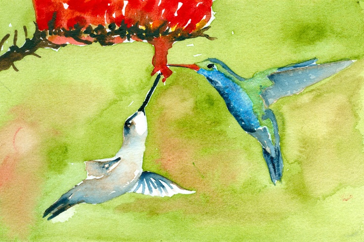 Hummingbirds - SOLD