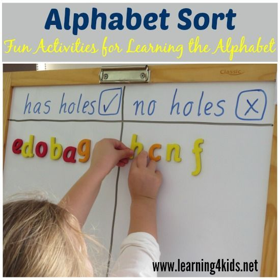 ABC sorting activity. I could use this at the beginning of the year next year as my modeling. Then, my kids could go back to their seats and do a cut and paste activity for reinforcement.