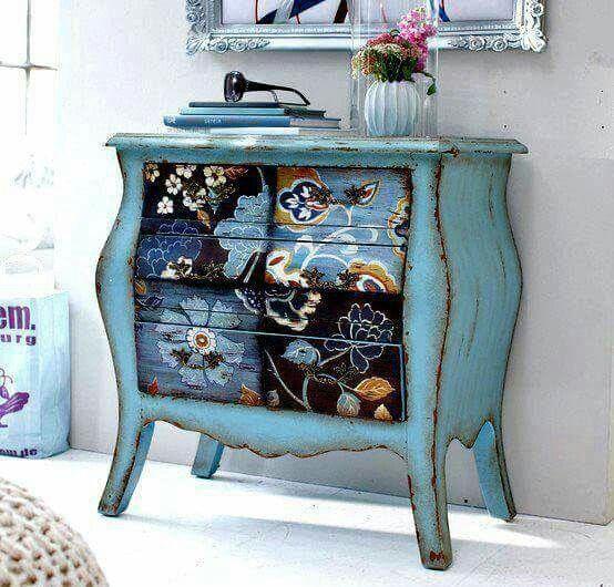 Painted furniture. Beautiful.