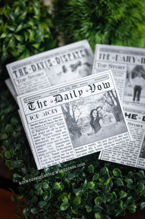Newspaper Wedding Program by KoTwoDesigns on Etsy