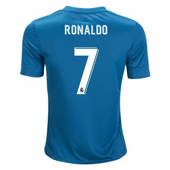 release date 7a7f5 58b7a 2017 Cristiano Ronaldo Jersey Number 7 Third Youth Real ...