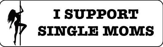 Helmet sticker - I support single moms