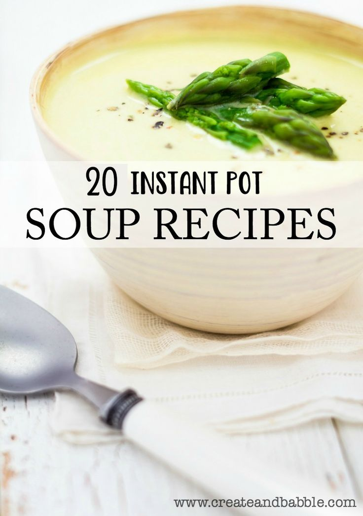 This cold weather means staying in and enjoying a big hot bowl of soup. I found twenty instant pot soup recipes to share with you.