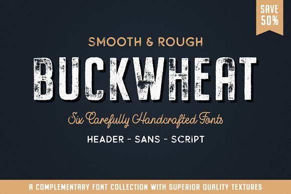 Buckwheat Font Collection (SALE) by Tom Chalky on @creativemarket