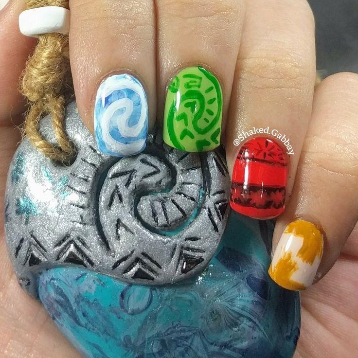 Moana Disney Nails Designs: Disney Moana Inspired Nails