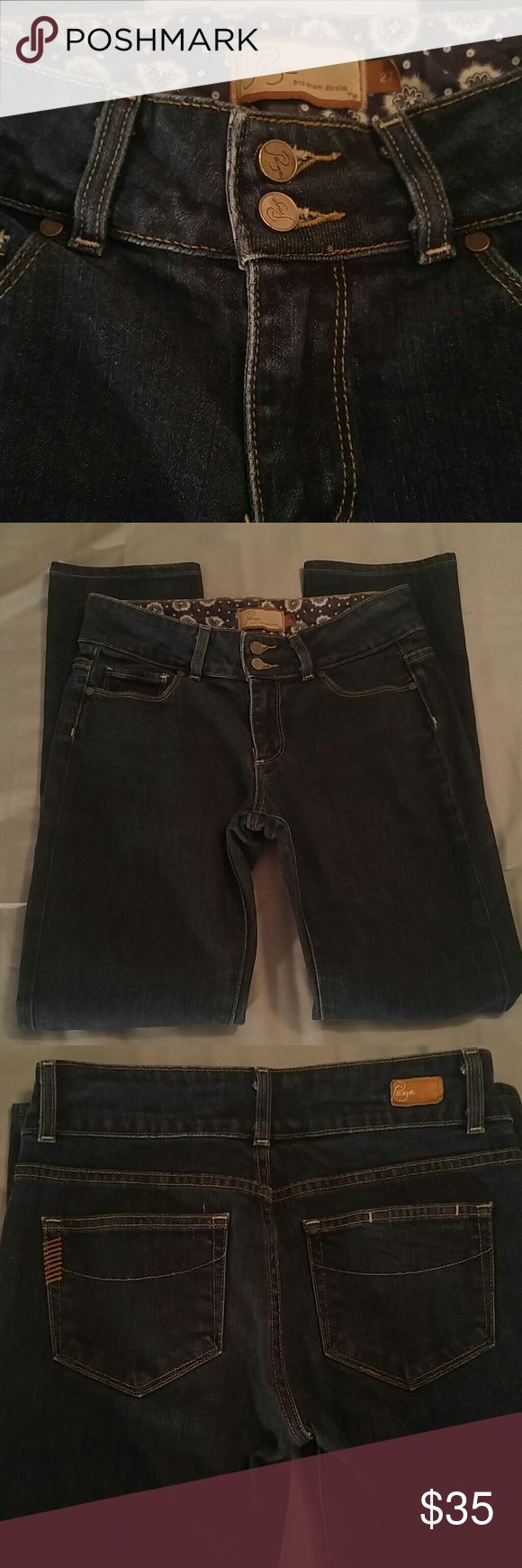 💕REDUCED Pretty Paige Straight cut jeans, size 27 Paige straight cut jeans, size 27, 29 inch inseam, excellent condition Paige Jeans Jeans Straight Leg
