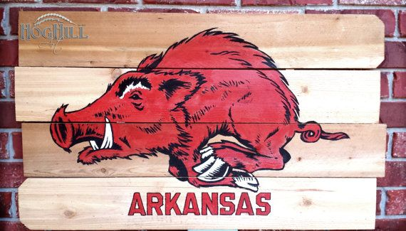 Arkansas Razorback painting Vintage Tusk on handmade by HogHillArt, $125.00