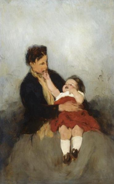 .;. Γύζης Νικόλαος – Gyzis Nikolaos [1842-1901] Mother and Child