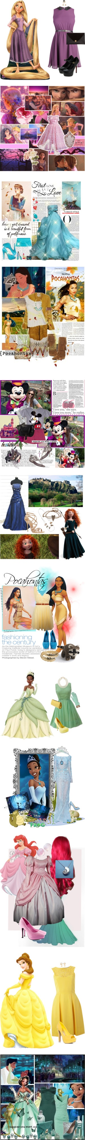 """""""Cute Disney Prinsess Sets*"""" by buttercup-indiapop ❤ liked on Polyvore"""
