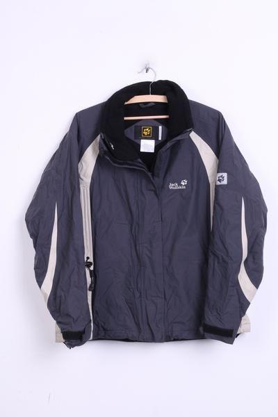 Jack Wolfskin Womens XL Jacket Nylon Waterproof Anorak Grey Sport - RetrospectClothes