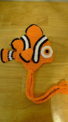 Crochet Clownfish Hat free pattern: