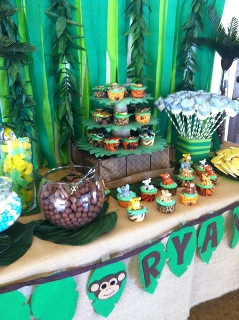 jungle safari baby shower party ideas