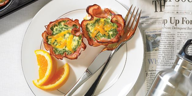 """Packed with protein these breakfast """"muffins"""" taste delicious and will keep you fuller longer."""