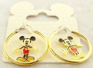 Disney Officially Licensed Mickey Mouse Gold Hoop Earrings, Gift-Boxed: Everything Else