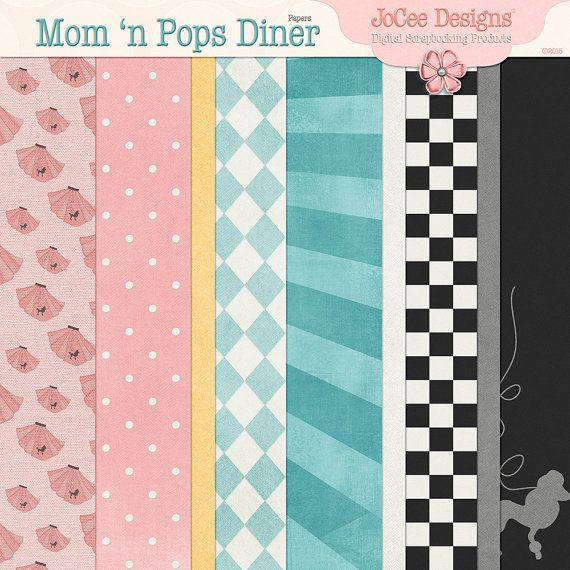 Digital Scrapbooking Collection. Mom 'n Pops by byJoCeeDesigns