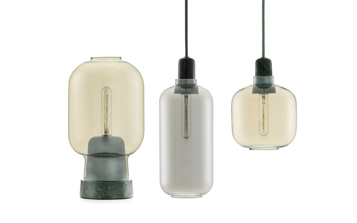 Amp Lamp | a modern glass lamp with an industrial expression | Normann Copenhagen