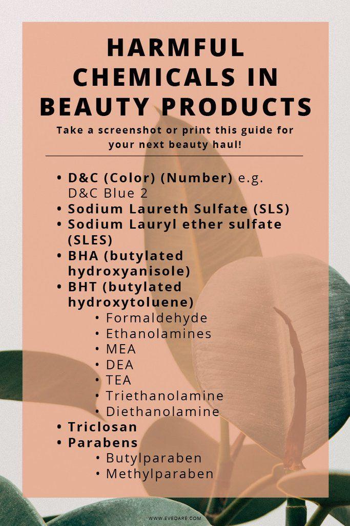 7 Harmful Ingredients To Avoid In Skincare Products Evedare Skin Care Skincare Ingredients Skin Care Tips
