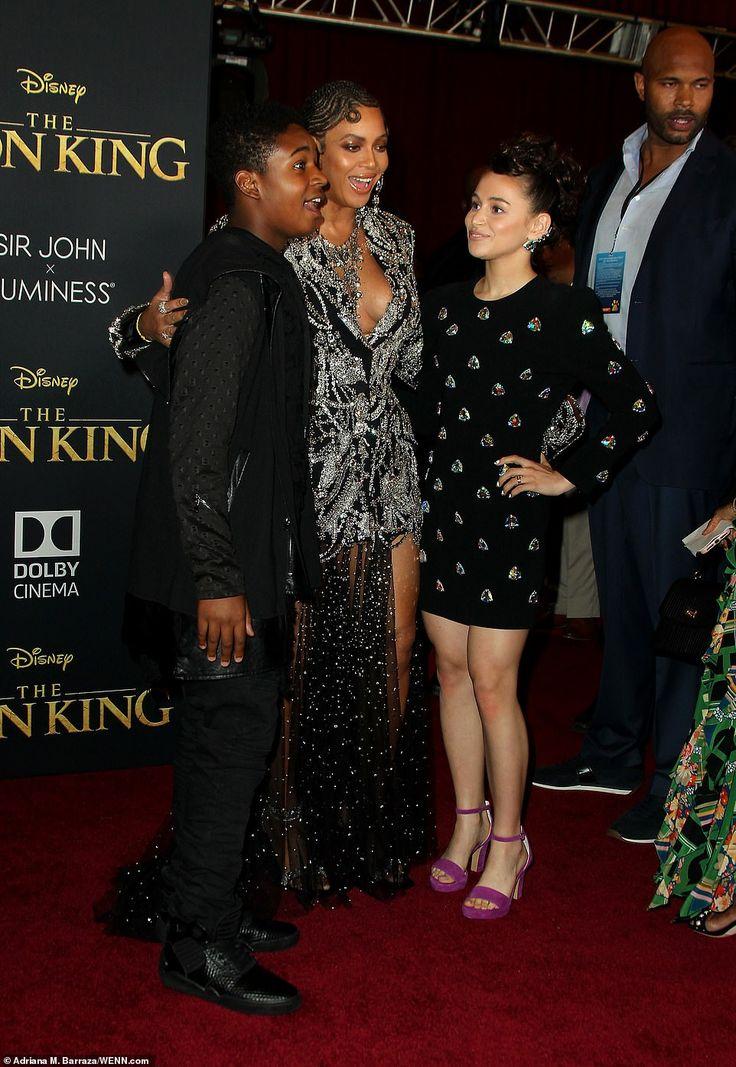 Beyoncé looks fierce in glittering dress at The Lion King