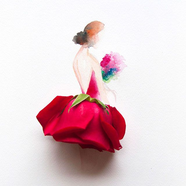 Рисунки из акварели и цветов – Фитнес для мозга