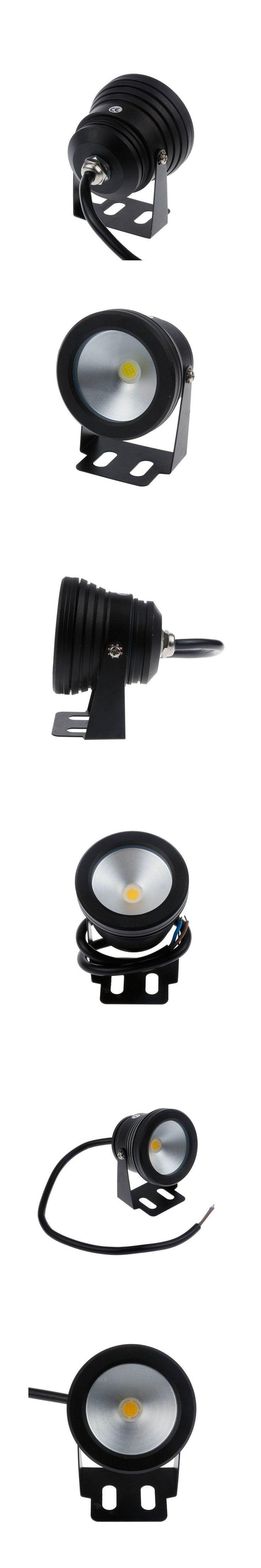 10W 12V LED Underwater Light Warm Light Cold Light Waterproof IP68 Landscape Lamp Outdoor Light Black Cover Body Free shipping
