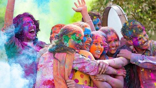 Places to visit in 2016: Visit India to experience the colorful Holi festival that inspired a wave of color runs throughout the western world. The colors explode on March 24th 2016 #kilroy #india #holi #holy #festival #party #colors #colorful #colorpowder