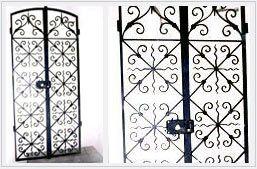 portail et grille de fenetre en fer forgé