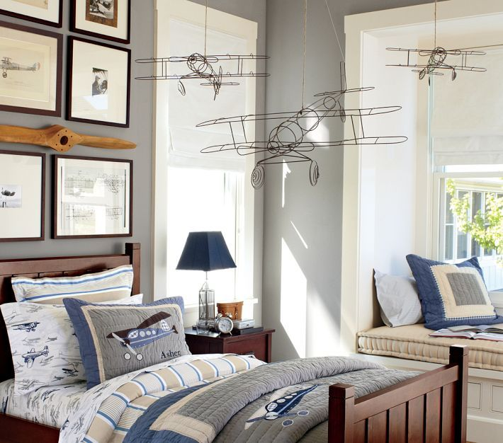 Captivating Taking Flight Bedroom   I Bet I Could DIY Those Wire Airplanes!