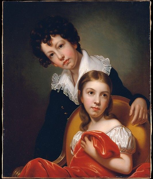 Rembrandt Peale (American, 1778). Michael Angelo and Emma Clara Peale, ca. 1826. The Metropolitan Museum of Art, New York. Purchase, Dodge Fund, Dale T. Johnson Fund, and The Douglass Foundation, The Overbrook Foundation,  Mr. and Mrs. Max N. Berry, Barbara G. Fleischman, Mrs. Daniel Fraad, Mr. and Mrs. Peter Lunder,  Mr. and Mrs. Frank Martucci, and Erving and Joyce Wolf Gifts, 2000 (2000.151)